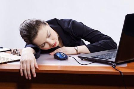 Сон днем в офисе